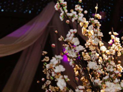 Rustic Blossom Tree Wedding Centrepiece