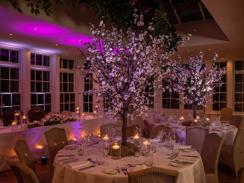 Rustic Blossom Tree Wedding Centrepiece