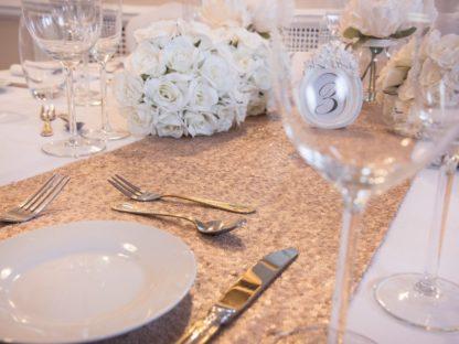 Champagne Blush Sequin table runner