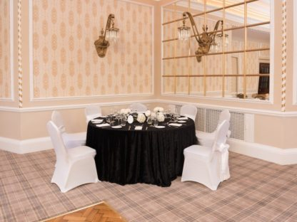 Crushed Black Table Cloth