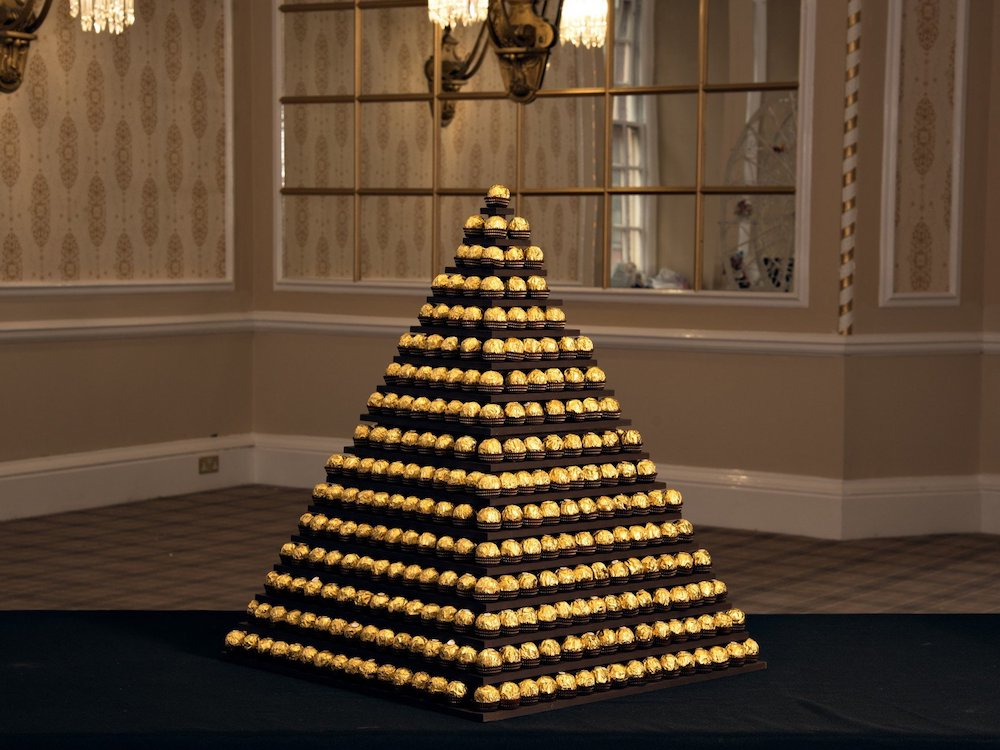 Ferrero Rocher Square Pyramid