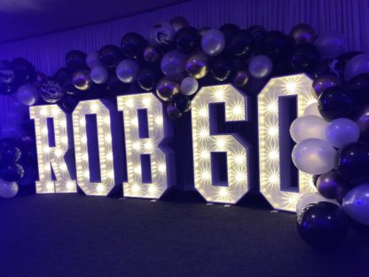Full Ballon Garland Arch Light Up letters Balloon Installation