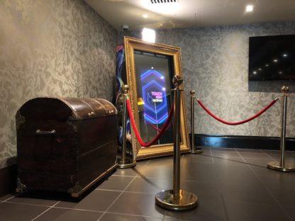 Gold Ornate Magic Mirror Photo Booth, Scene My Event