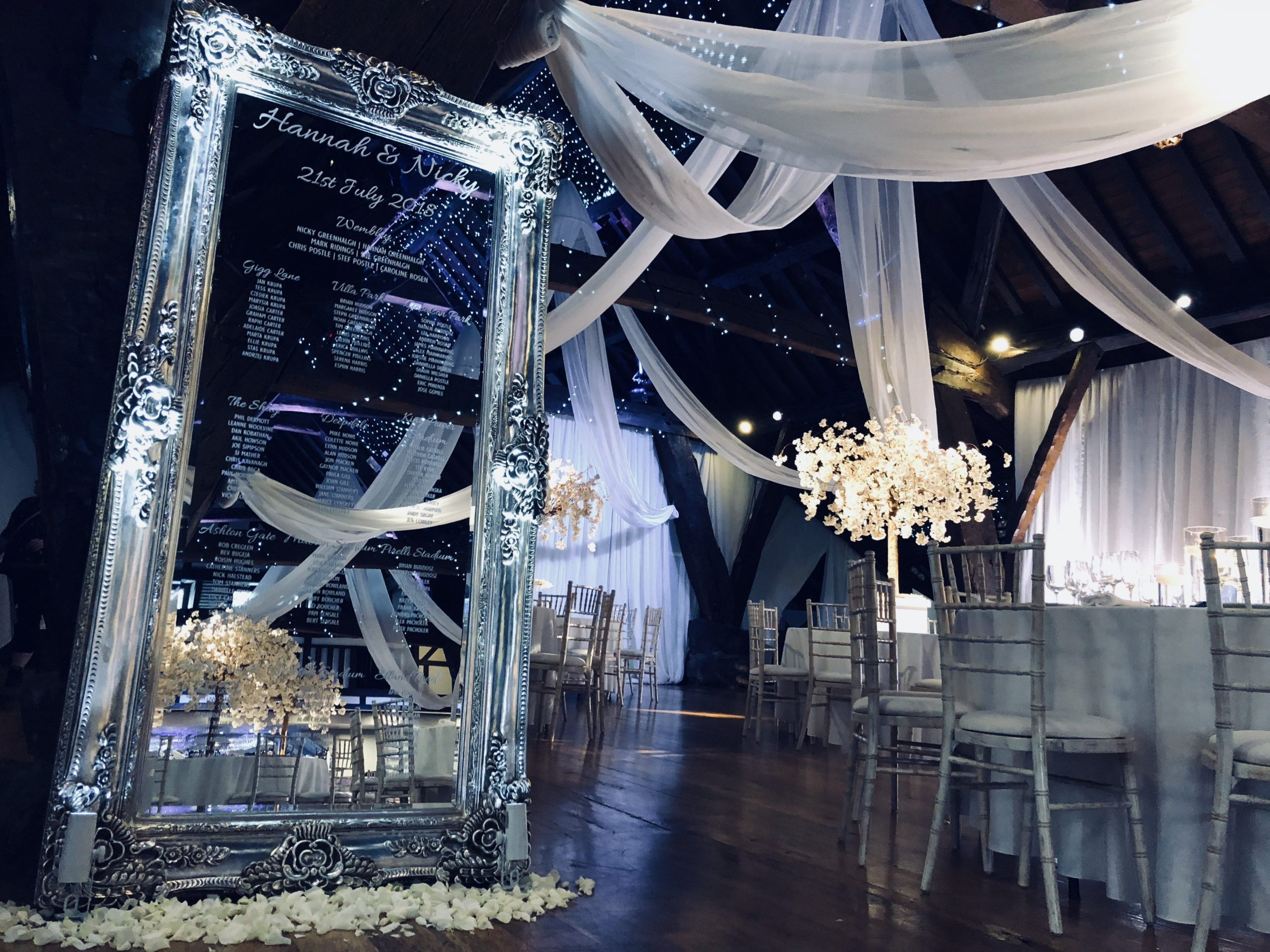 Large Ornate Champagne Mirror Table Plan, Table Plans & Easels, Scene My Event, Scene My Event - Scene My Event