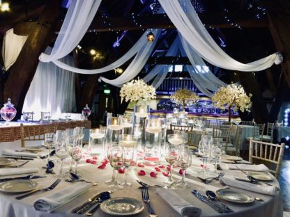floating Candle arrangement wedding centrepiece