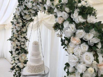 Floral Suspended Chandelier Cake Display
