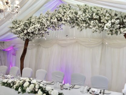 White Cherry Blossom Tree, Venue Styling Wedding