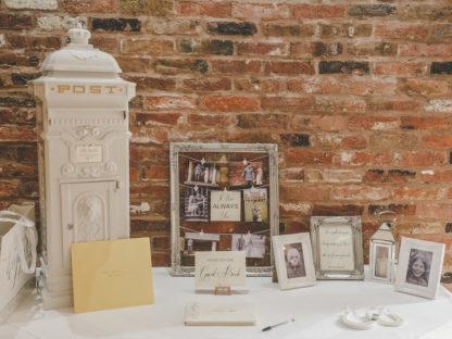 Vintage White Wedding Postbox