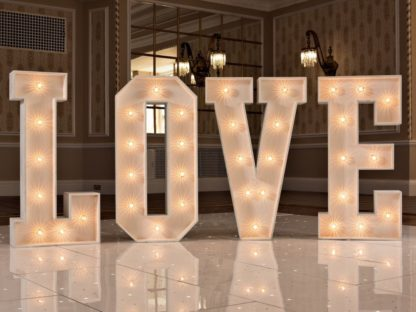 White Classic Love Letters Light Up letters Wedding