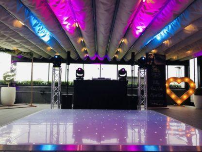 White LED Dancefloor Party Dancing Wedding Corporate Event Scene My Event