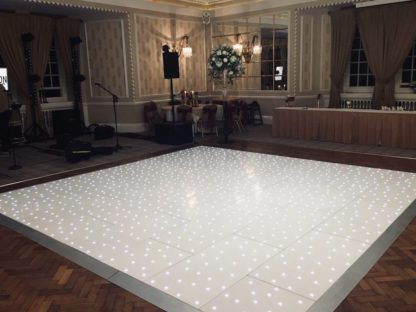 White LED Dancefloor Party Dancing Wedding Corporate Event Scene My Event