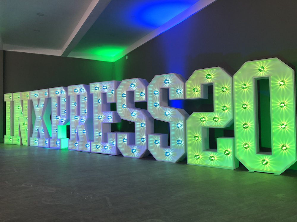 Corporate Light Up Letters Feature Large Brand party Event Scene My Event