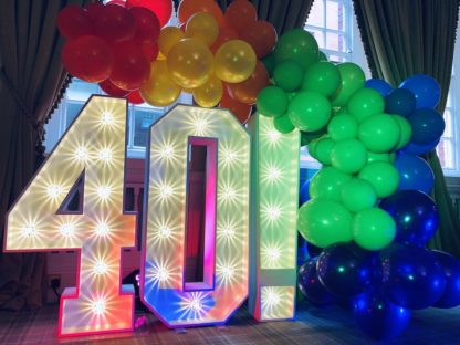 Light Up Names and Numbers Party Letters
